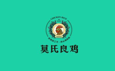 莫氏良鸡餐厅logo及物料