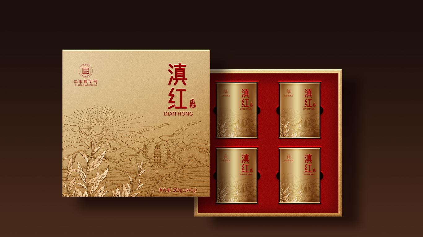 滇红茶叶包装设计中标图1