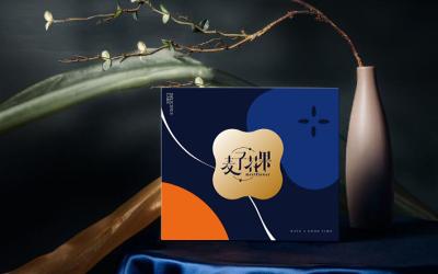 麦子花果月饼盒包装设计