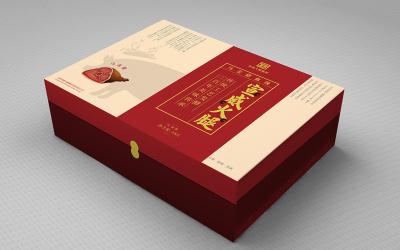 火腿礼盒包装设计