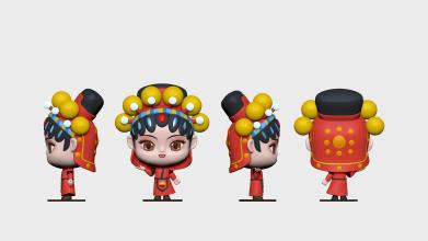 兰妮儿食品类吉祥物3D建模