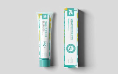 白云山牙膏包装设计