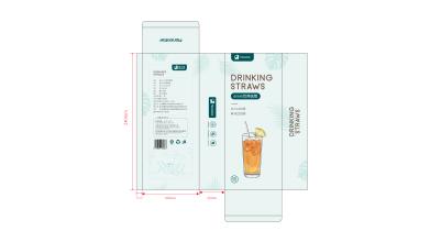 monskitter饮用吸管包装延展设计