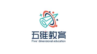 五维艺术教育品牌LOGO设计
