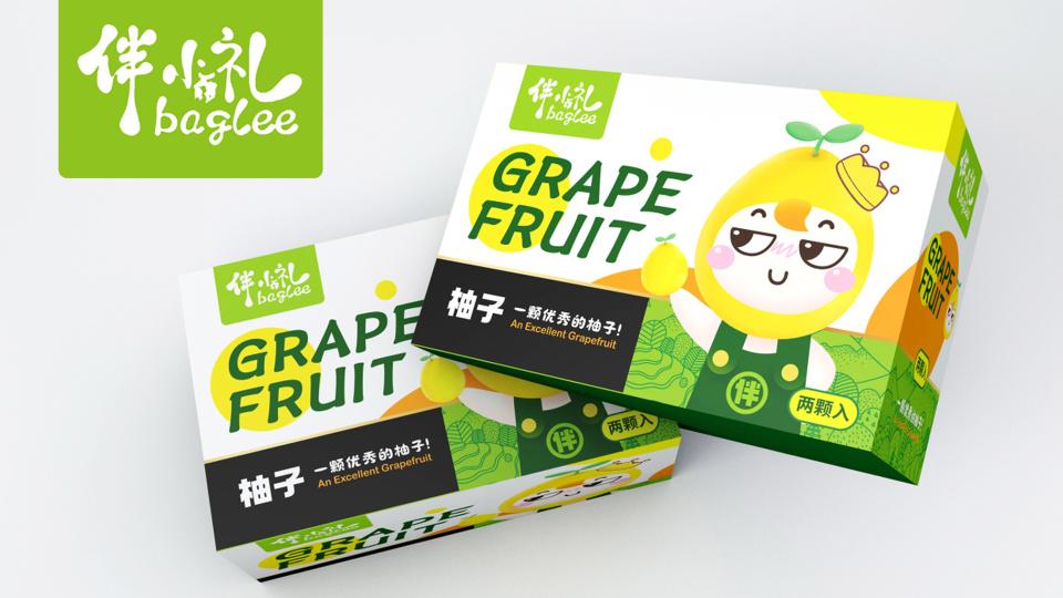 伴小礼水果类包装设计