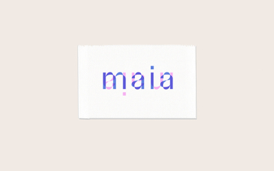 Maia 字体图形设计