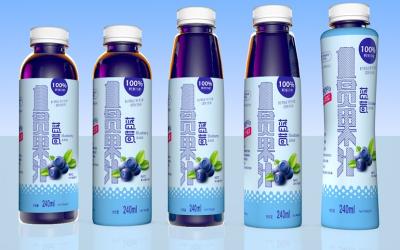 一罐果汁-瓶型瓶贴包装设计