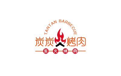 炭炭烤肉餐饮logo