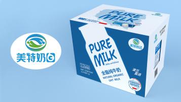 美特奶白奶制品包装设计