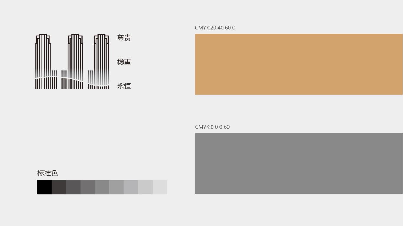 广州城投·万科 湾区国际经融港/品牌包装 VI视觉识别系统设计 地产logo设计图4