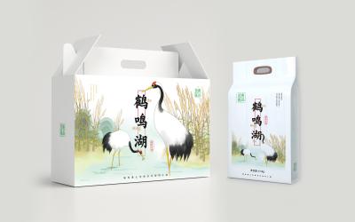 优品鹤鸣湖大米品牌包装设计